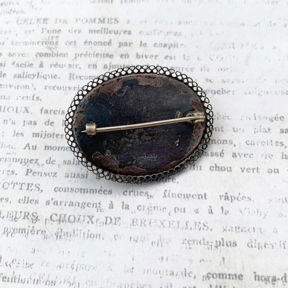 Vintage Abalone Brooch   Blister Pearl - image 3