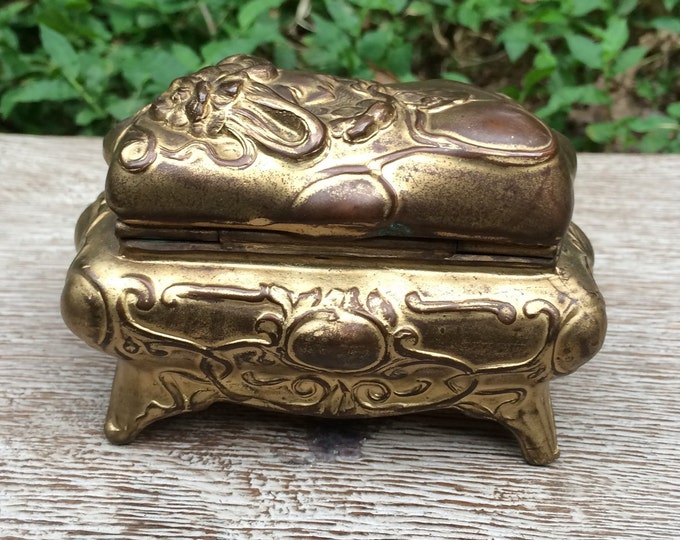 Antique Art Nouveau Jewelry Casket    Brainard & Wilson Jewelry Box
