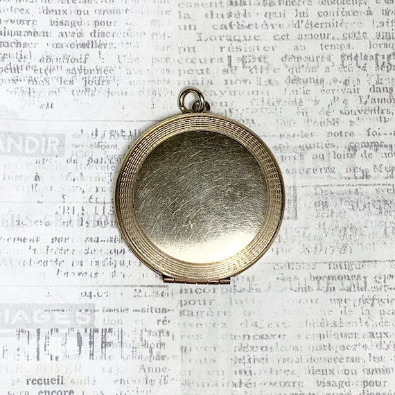 Vintage Gold Filled Round Locket | Large Locket