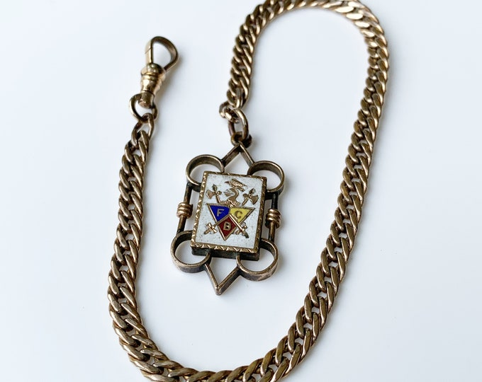 Vintage Knights of Pythias Watch Fob and Chain