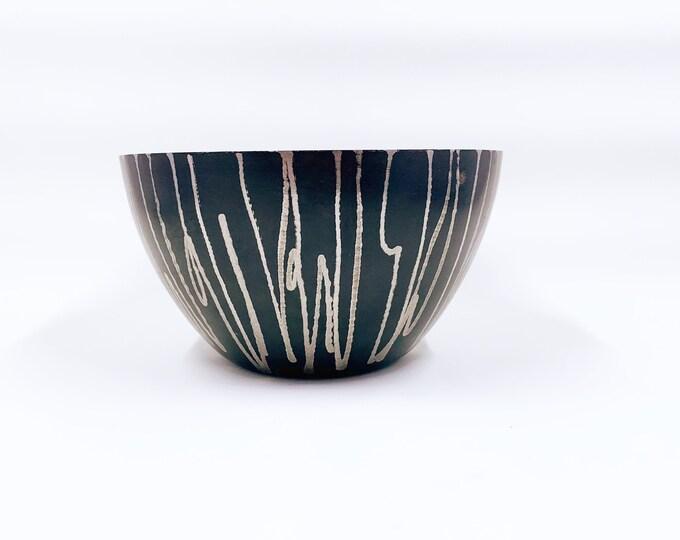 Vintage Michael Aram Black Etched Nut Bowl | Michael Aram Africa Collection Nut Bowl