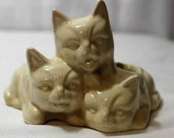 Vintage 3 Little Kittens Planter