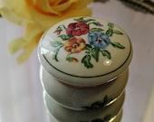 Vintage Partylite Porcelain Floral Trinket Box