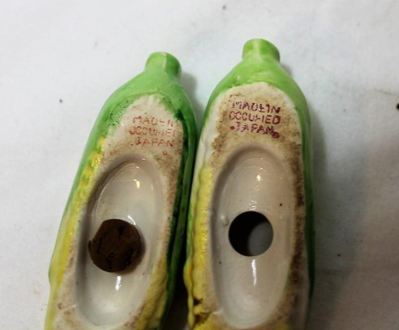Occupied Japan Vintage Ears of Corn Salt and Pepper Shakers