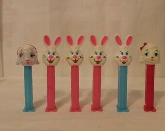 Set of 6 Vintage Easter PEZ Dispensers