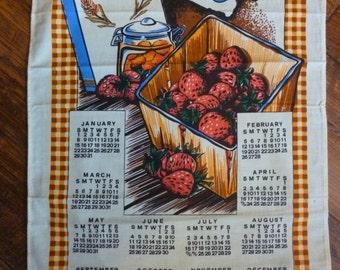 1989 Breakfast Bran & Strawberries Tea Towel Calendar
