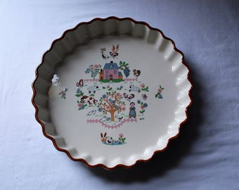 "Vintage Jamestown China ""Country Home"" Tart or Quiche Dish"