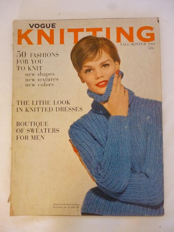 72e18fcca5f24d Vogue Knitting Pattern Magazine Fall-Winter 1961