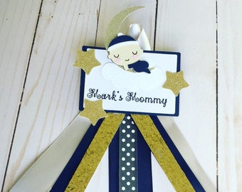 Twinkle Twinkle Little Star Baby Shower, Mommy to be pin, mommy corsage
