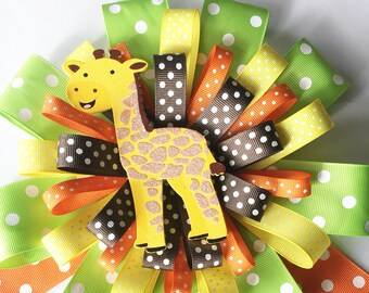 Deluxe Jungle Safari Mom To Be Corsage Pin, Corsage for Mom, Baby shower Pin, Mum Jungle theme