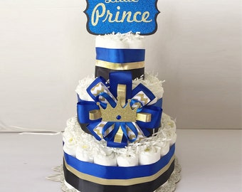 LIttle Prince Diaper Cake, Royal Baby diaper cake, Little Prince Baby Shower Decorations, Little Prince Baby Shower Centerpiece