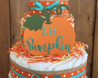 Pumpkin Baby Shower Diaper Cake Kit