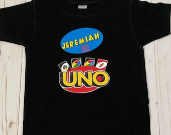 Uno birthday shirt, uno party shirt, uno decorations first birthday shirt, top uno decorations, First birthday outfit