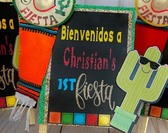 3 Fiesta Party Decorations, Birthday signs, taco about a baby, fiesta baby shower sign, cinco de mayo, fiesta Party supplies