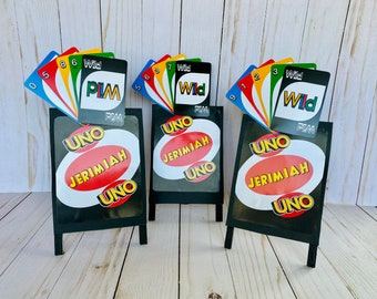 Uno Party Decorations, Uno First Birthday, Party Centerpiece, Party Sign