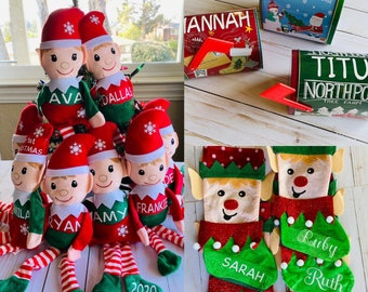 Personalized elves, Elf Bundle Gift Set, Christmas Elves, Christmas Stockings, letters to Santa Claus, Christmas gift for kids