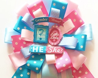 Gender Reveal Baby Shower, Mommy to be Pin, Mum Gender Reveal, Girl Baby Shower Corsage,