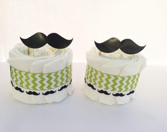 Mustache Baby shower Centerpices Set of 2, Mustache Baby shower Decorations