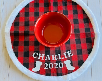 Pet bowl mat, Christmas Gifts for Pets, placemat pet lovers gift personalized pet decorative placemats