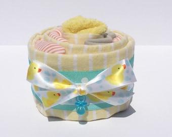 Newborn Gift Set, Ducks Baby shower Decorations, Baby Bodysuit Cupcakes, Cupcake Onesie