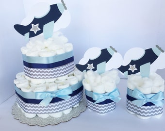 Airplanes Baby's shower Decoration, Table Centerpiece, Airplanes Decor, Aviator Shower, Boys Shower Decor