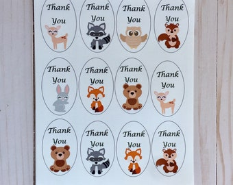 Favor Tags, Woodland Thank you tags, woodland party favor tags, good bag tags, favor labels, woodland party supplies