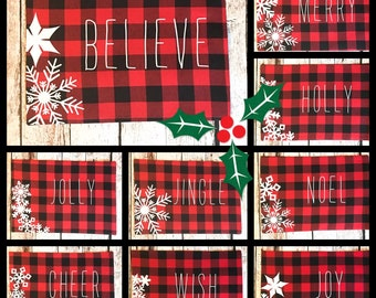 Personalized Buffalo Plaid Placemats, Christmas Kitchen Dinning Decor, Table  Centerpiece