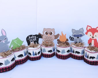 Lumberjack Decorations, Woodland theme, Camping Baby Shower, Lumberjack Baby shower, lumberjack party, Buffalo Plaid Decorations