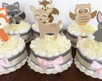 Woodland Baby Shower Decor, Forest Animals Table Centerpiece, Woodland Decorations, Woodland toppers