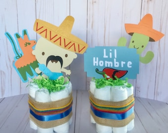Fiesta Baby Shower, Mexican Baby Shower, Taco Decor, Taco Shower, Fiesta Diaper Cake