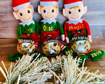 Elves, Ornaments, Elf with name Christmas decorations, Personalized gifts,