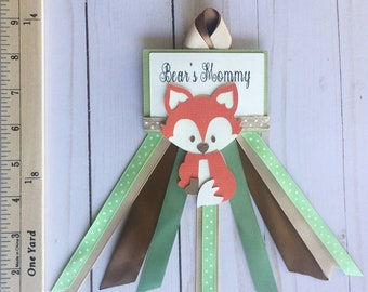 Woodland corsage, woodland mommy to be pin