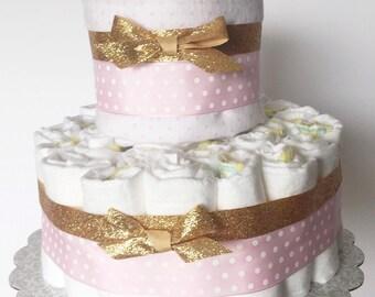 Pink gold cake   Etsy