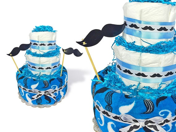 Mustache Diaper Cake Mustache Baby Shower Centerpiece Mustache