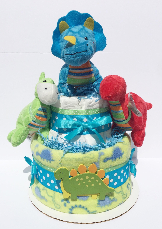 Dinosaur Baby Shower Decorations Dinosaur Diaper Cakes Dinosaur