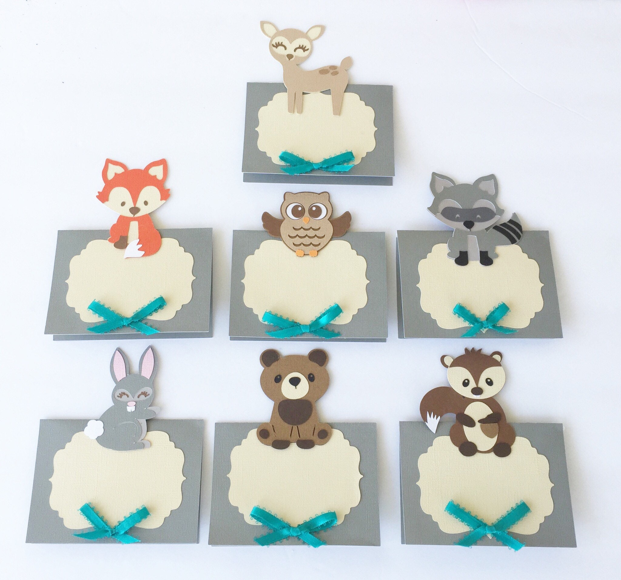 Woodland Animals Place Cards Woodland Baby Shower