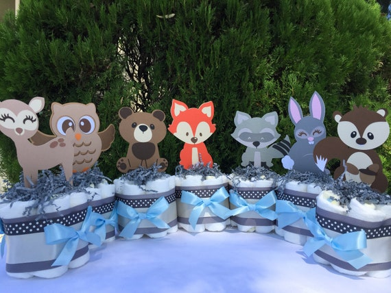 Boy Woodland Baby Shower Decorations Woodland Table Decor Forest