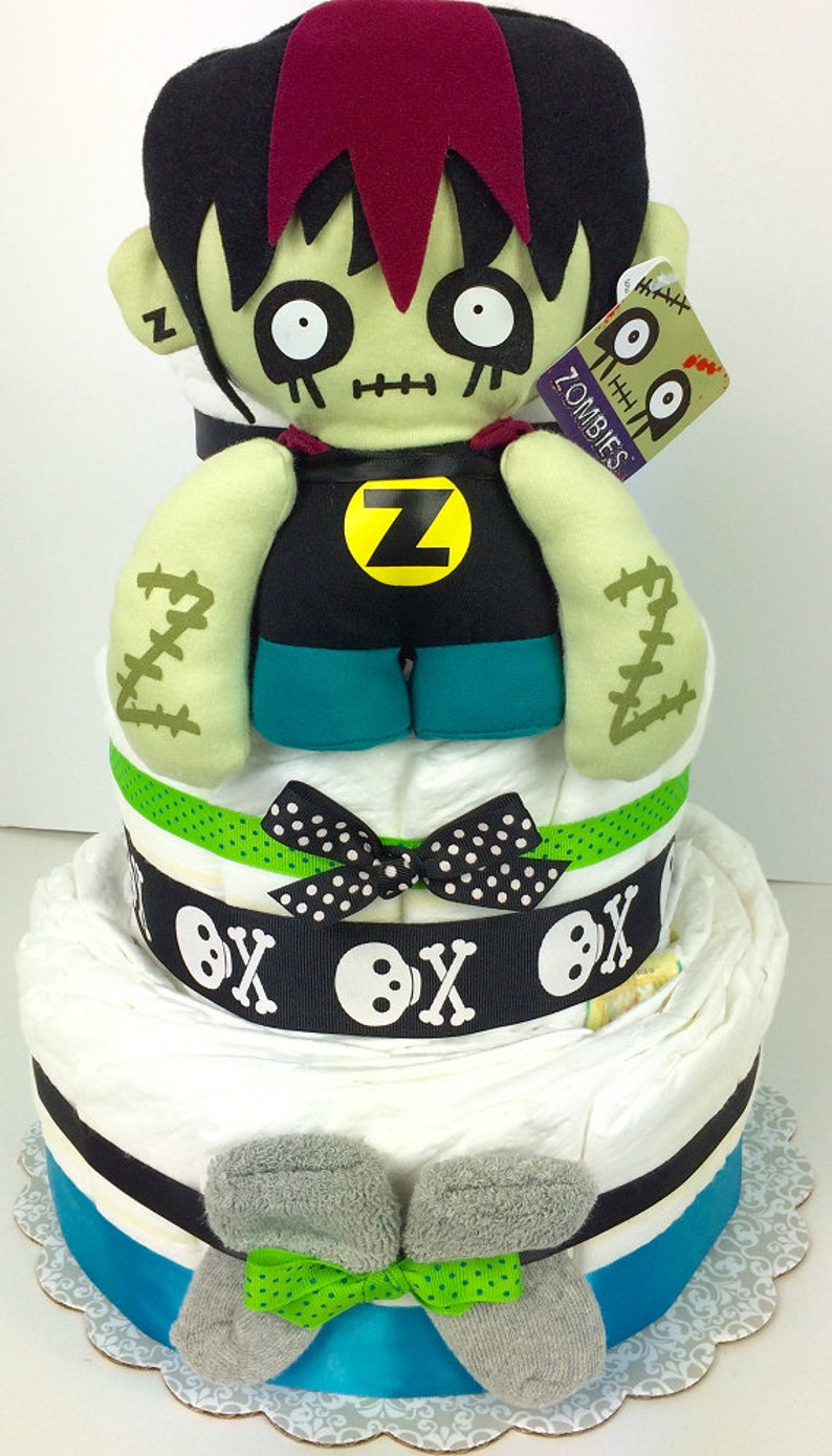 Zombie Baby Diaper Cake by My Party Style