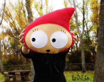 Plush Anly Red Riding Hood -Decorative plush pillow -