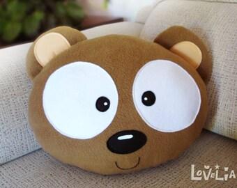 NEBU THE BEAR-Decorative plush pillow -