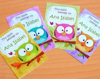 RainbOWLS Bookplates set of 12