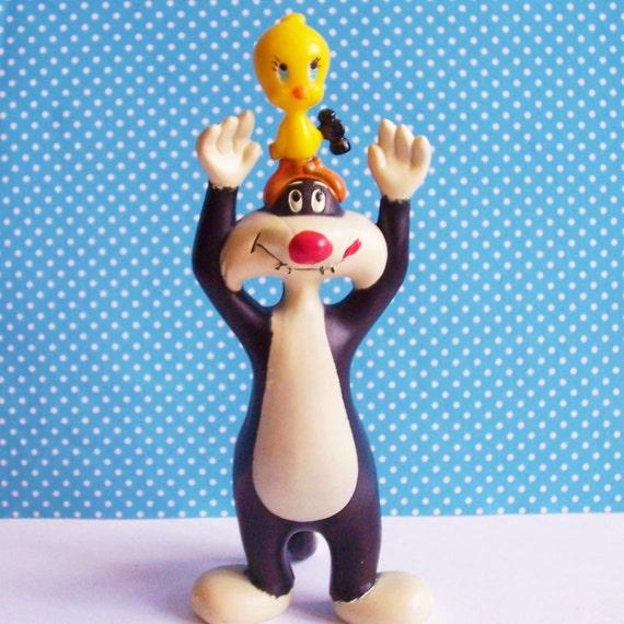"Looney Tunes SYLVESTER & TWEETY Wilton Cake Topper Collectible 6 1/8""Vintage 1979"