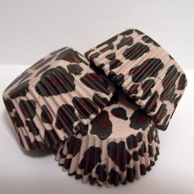 Leopard Print Cupcake Liners- Choose Set of 50 or 100