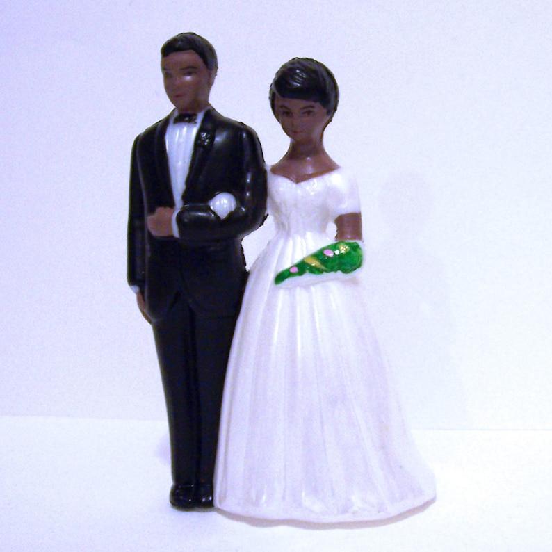 Modern Vintage Dark Bride w Lace Dress and Groom Cake Topper DIY