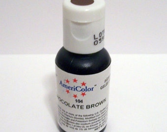 Chocolate Brown Gel Paste Food Color For Cupcakes Cakes Fondant Frosting