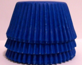Blue Cupcake Liners w Slight Ombré  Stripe- - Choose Set of 50 or 100