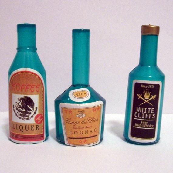 40 Miniature Liquor Bottle Cake Toppers Etsy Simple Liquor Bottle Cake Decorations