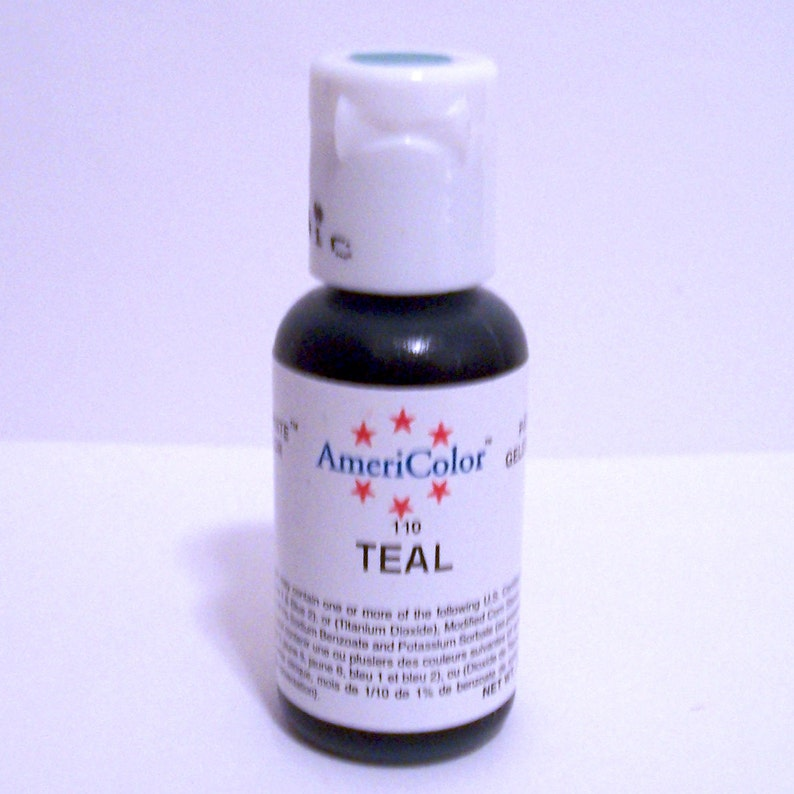 Teal Gel Paste Food Color For Cupcakes Cakes Froating Fondant