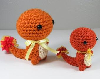 Ready to Ship - Crochet - JUMBO Chibi Pokemon Amigurumi - Charmander. Pokemon Plush. Pokemon Go. Pokemon Cosplay. Anime Gift. Pokemon Gift.