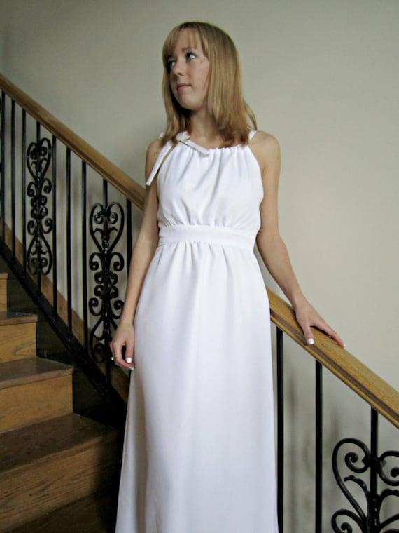 Grecian Inspirowane Suknia ślubna Długie Białe Suknia ślubna Etsy